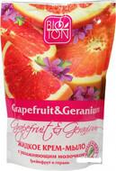 Биотон Жидкое крем-мыло Грейпфрут и герань с увлажняющим молочком (дой-пак) 500мл